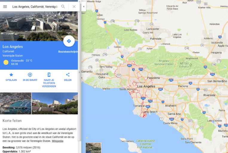 Screenshot van Google Maps. Beeld Google