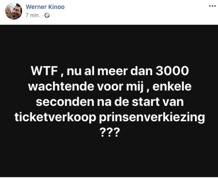 Werner Kinoo postte dit op Facebook.