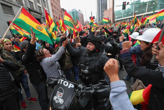 Bolivia viert feest na het vertrek van Morales.