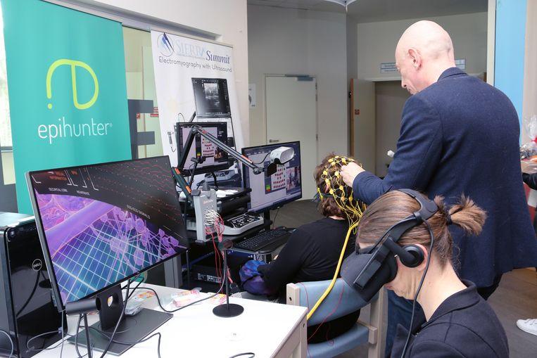 In het AZ Herentals kon je een virtuele reis in een epileptisch brein maken.