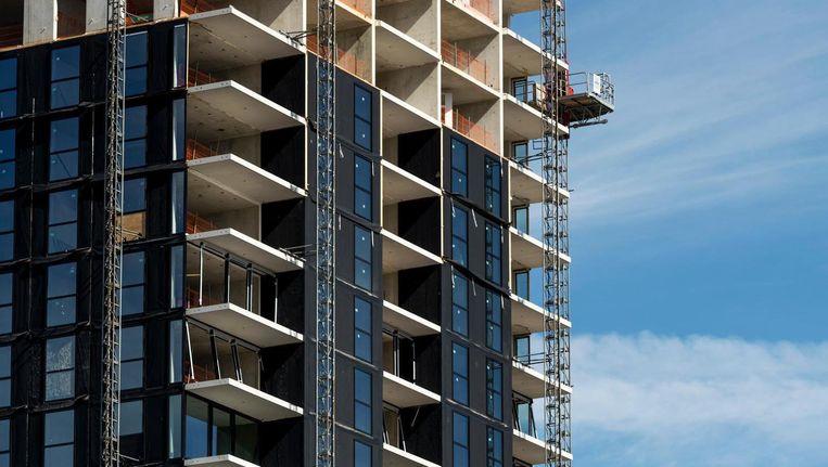 Appartementencomplex Bmine in Noord in aanbouw Beeld anp