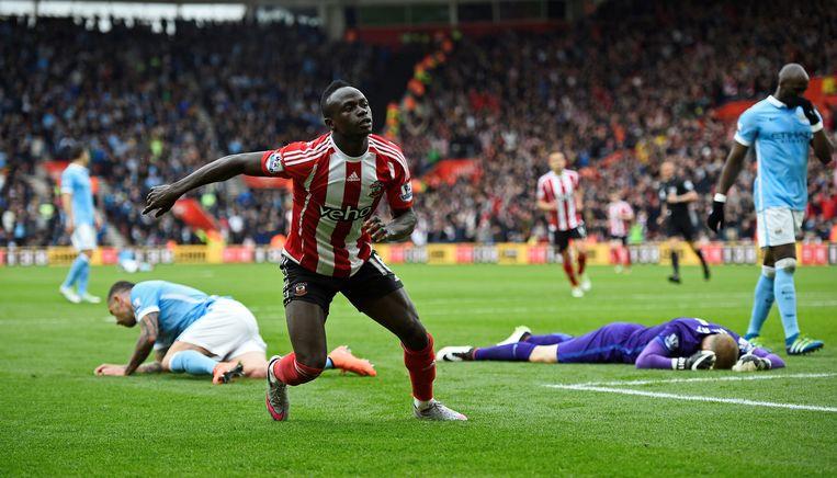 Sadio Mané scoorde driemaal voor Southampton. Beeld null