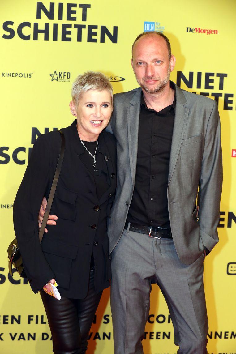 Andrea Croonenberghs kwam kijken met partner Toon.