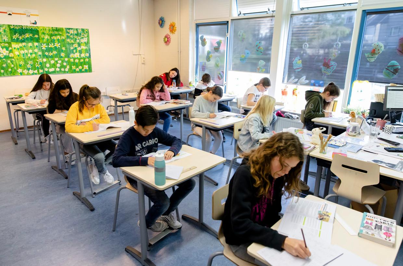 42 procent van alle basisschoolleerlingen  krijgt een te hoog advies, 18 procent een te laag advies. Beeld ANP