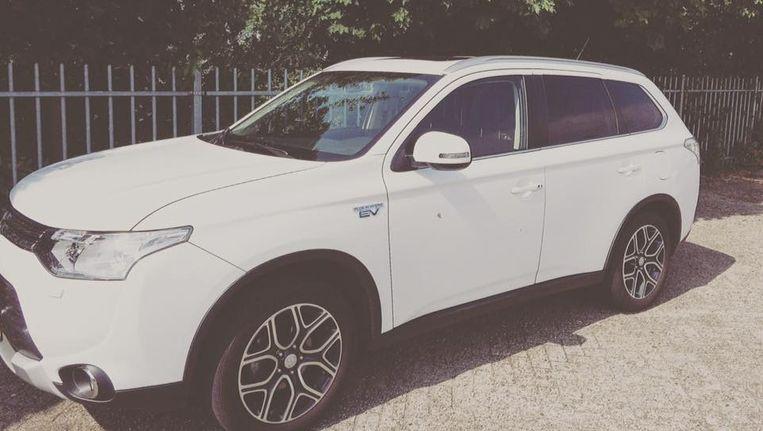 De auto van rapper-zanger Typhoon. Beeld