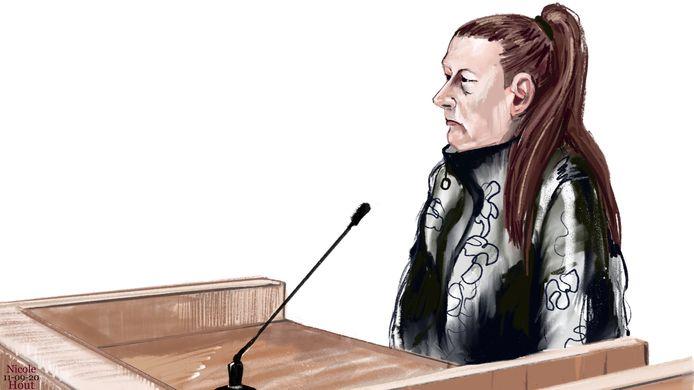 Truitje R. in de rechtbank.