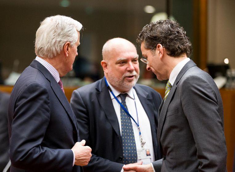 Met Jeroen Dijsselbloem in 2013 Beeld Corbis via Getty Images