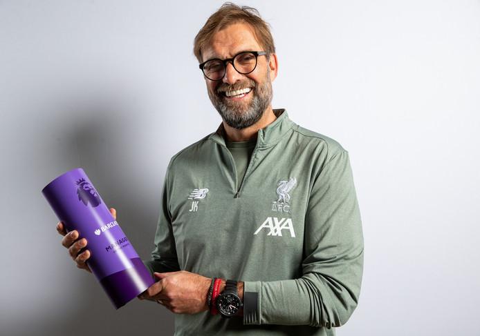 Jürgen Klopp is voor de vijfde keer dit seizoen verkozen tot Premier League-manager van de maand.