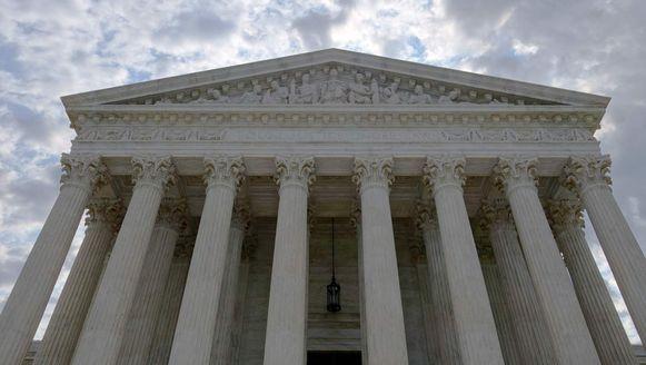 Het gebouw van het Hooggerechtshof in de Amerikaanse hoofdstad Washington.