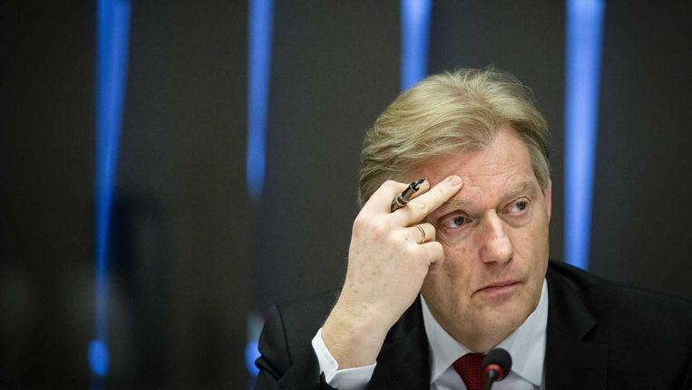 Staatssecretaris Van Rijn bij de commissievergadering over drugs. Beeld anp