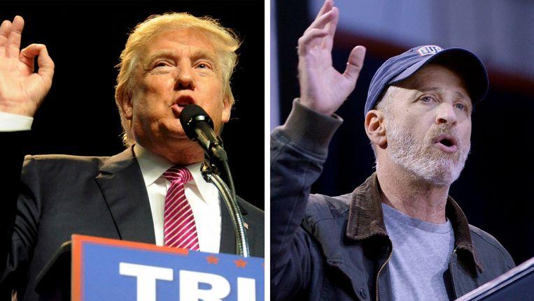 Donald Trump en Jon Stewart zitten elkaar al jarenlang in de haren.