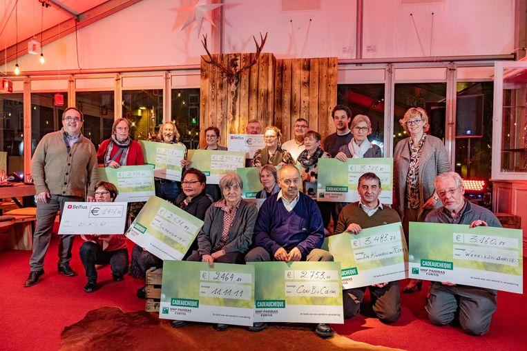 De cheques werden overhandigd aan de Warmste Tafel