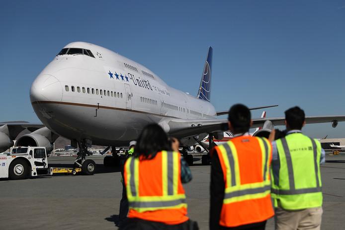 Een Boeing 747.