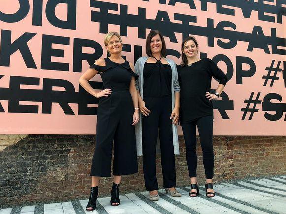 Ann Schoenmaekers, Nicole Boons en Yana Poelman van het nieuwe Business Netwerk Waasland.