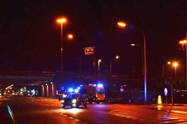 Door het ongeval was er licht hinder op de weg.
