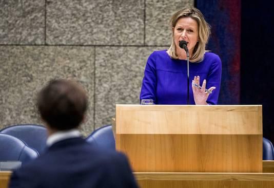 Minister Ollongren tijdens het debat over de intrekking van de Wet raadgevend referendum.