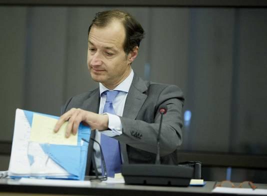 Staatssecretaris Eric Wiebes tijdens het wetgevingsoverleg over het Belastingplan