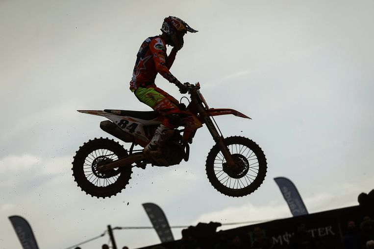 Jeffrey Herlings tijdens de MXGP in Aguada, Portugal. Beeld EPA