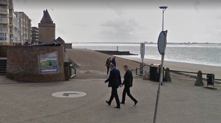 De toegang tot de Glooiing aan de Boulevard Bankert in Vlissingen.