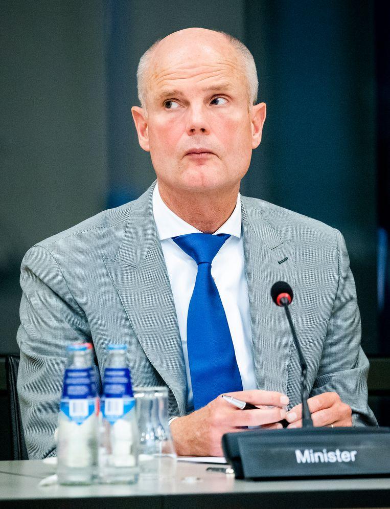 Minister Stef Blok (Buitenlandse Zaken) tijdens een overleg in de Tweede Kamer.  Beeld Hollandse Hoogte /  ANP