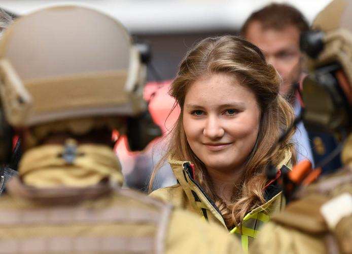 Le roi Philippe et la princesse Elisabeth ont visité le Centre de formation des pompiers de Bruxelles le 26 mai 2019.