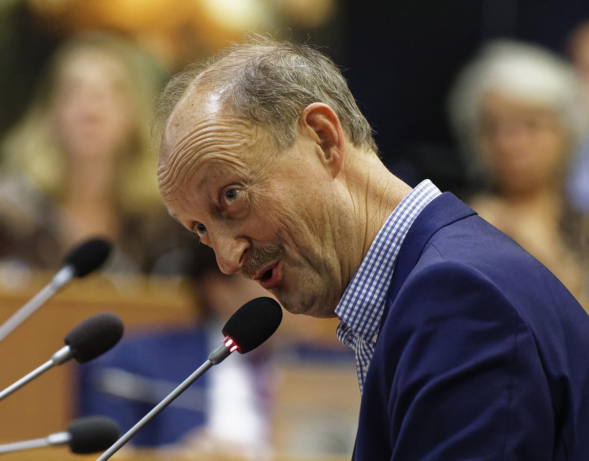 Jan-Frans Brouwers (50Plus) tijdens een eerder statendebat. Zijn partij solliciteerde vrijdag nadrukkelijk naar een plek in de coalitie.