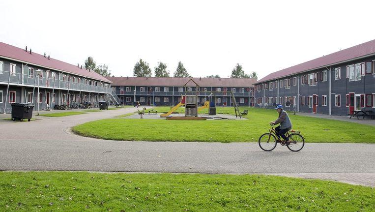 Het asielzoekerscentrum in Burgum. Beeld anp
