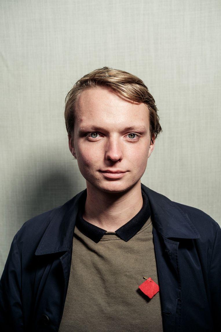 Rijk van Beek (21) studeert geschiedenis aan de UvA.   Beeld Jakob Van Vliet
