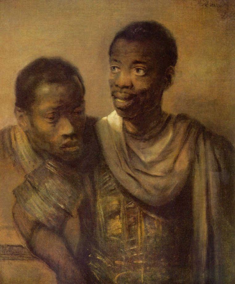 Rembrandt van Rijn, 'Twee Afrikaanse mannen', 1661. Beeld Museum het Mauritshuis, Den Haag