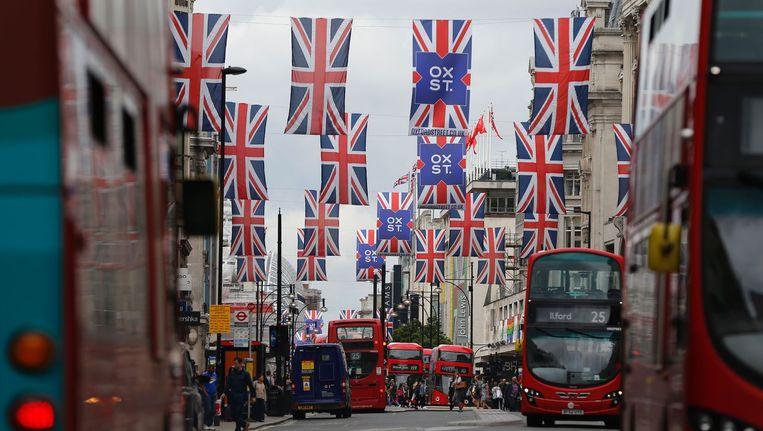 Oxford Street in het centrum van Londen Beeld ANP