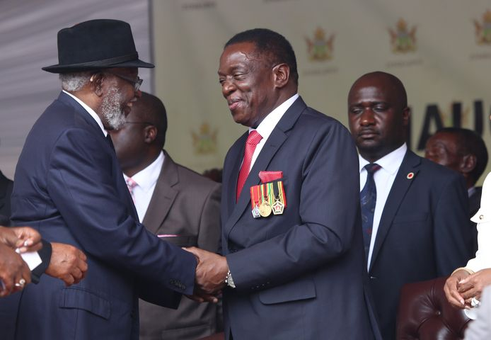 Felicitaties voor president Emmerson Mnangagwa bij zijn beëdiging.