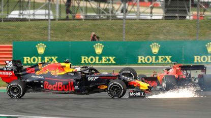 Mercedes deelt opnieuw de lakens uit in Silverstone, Vettel schakelt zichzelf uit na crash met Verstappen