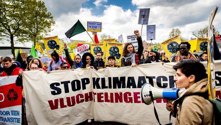 Ook in steden als New York en Londen wordt een mars gelopen. Beeld anp