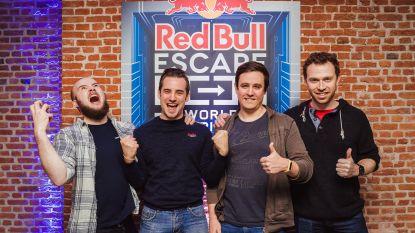 Vier vrienden vol vertrouwen naar WK escape room
