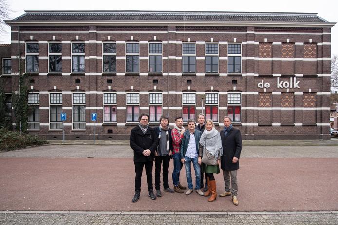De werkgroep v.l.n.r. Menno Dimitri Ouderkerk, Henk Lammers, Carlo Dronkers, Ruud Schraven, Hans Peter de Ruiter, Babbette Schoonebeek en Frank Schoonebeek vorig jaar, toen de plannen nog vers waren.
