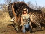 "Elle tue une girafe rare sans remords: ""Aucun manque de respect"""
