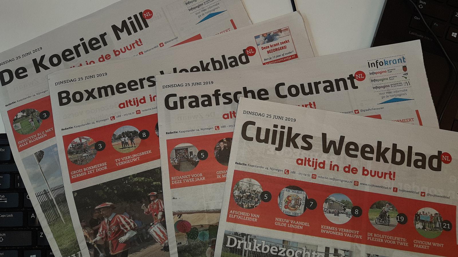 Weekbladen in het Land van Cuijk van De Persgroep