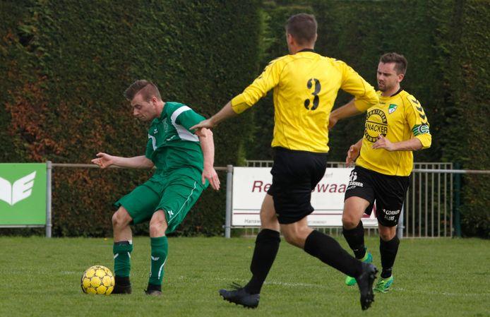 Graauw (groen) won zondag bij Corn Boys.