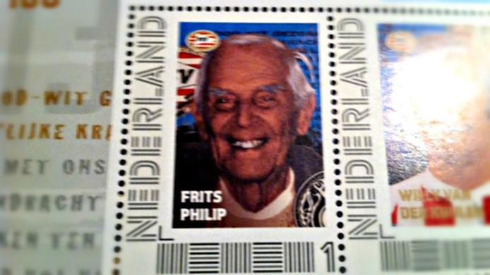 Frits Philips op een postzegel ter ere van het honderdjarig bestaan van PSV.