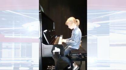 Flore (8) wint piano met eigen versie van Mia