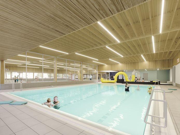 Impressie: Het doelgroepenbad in het nieuwe binnensportcomplex van Zaltbommel.