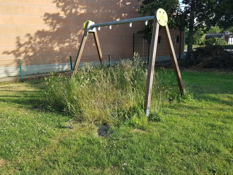 Beelden van eerder deze week: de tuin van De Brem lag er volgens Karel Labens (sp.a) niet goed onderhouden bij