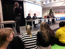Myrte Hesselberth, gemeenteraadslid voor PrO in Oisterwijk, leidde voor de derde keer het politieke debat op Durendael, de school waar ze tot voor kort zelf ook op zat