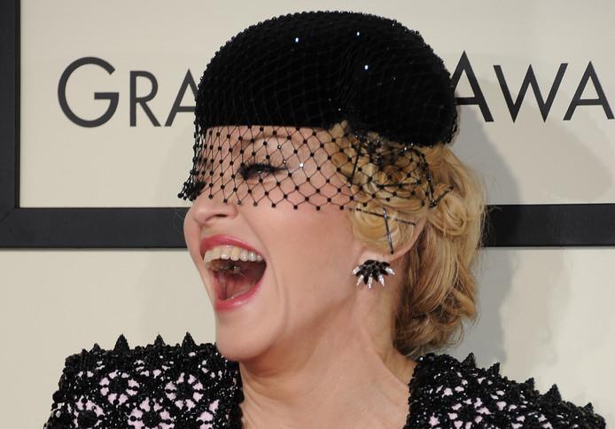 Madonna, à la 57ème cérémonie des Grammy Awards.