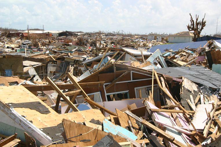 De wijk The Mudd, waar de Haïtianen woonden. Beeld null
