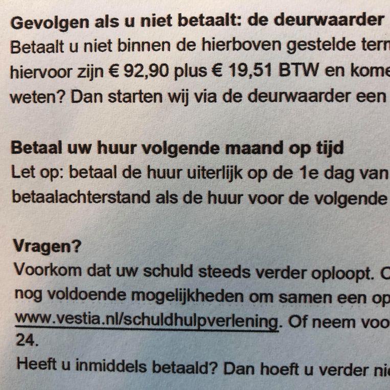 € 92,90 plus € 19,51 BTW. Beeld Toine Heijmans