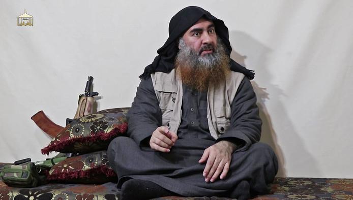 Een van de foto's waarop Abu Bakr al-Baghdadi te zien zou zijn.