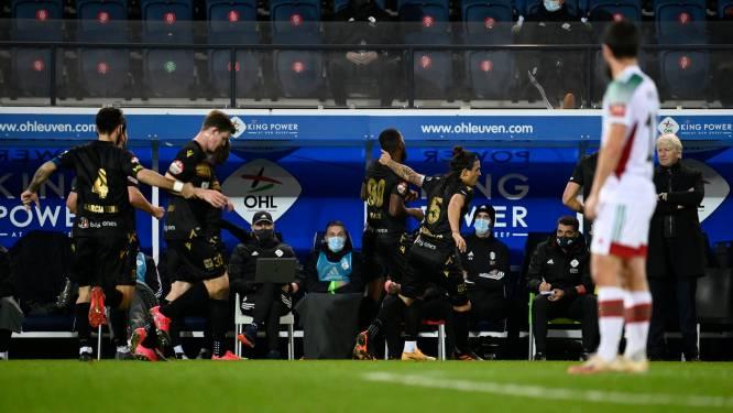 """Duckens Nazon (STVV) viert doelpunt voor neus van ex-coach: """"Wat is het probleem, ik mag toch vieren?"""""""