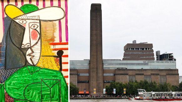 Een man scheurde een kunstwerk van Picasso, 'Bust of a Woman', kapot in Tate Modern in Londen.