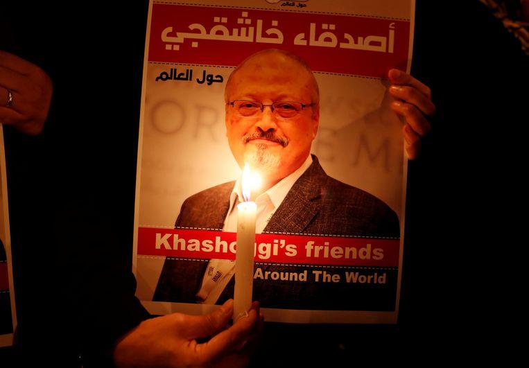 Een herdenkingswake, vorig jaar, voor Jamal Khashoggi.